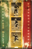 Bob Marley - Soccer Collage Stretched Canvas Print