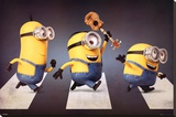 Minions - Abbey Road Stretched Canvas Print