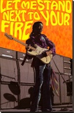 Jimi Hendrix - Let Me Stand Next to Your Fire Stretched Canvas Print