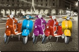 VESPAS ROME Stretched Canvas Print