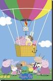Peppa Pig - Balloon Reproducción en lienzo de la lámina