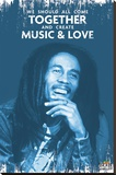 Bob Marley - Music & Love Stretched Canvas Print