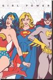 DC Comics- Girl Power Lærredstryk på blindramme