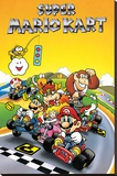 Super Mario - Kart Retro Stretched Canvas Print