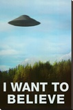 The X-Files I Want To Believe TV Poster Print Stretched Canvas Print