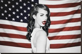 Lana Del Rey Stretched Canvas Print