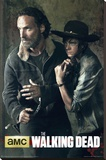 The Walking Dead - Season 5 Rick And Carl Stretched Canvas Print