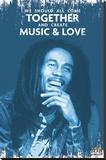 Bob Marley - Music & Love Lærredstryk på blindramme