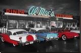 AL MACS DINER Stretched Canvas Print