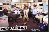 Workaholics - Office TV Poster Stretched Canvas Print