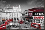 LONDON - Picadilly Circus Stretched Canvas Print
