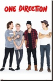 One Direction New Group Stretched Canvas Print