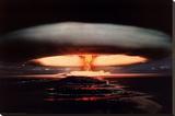 Hydrogen Bomb Sträckt kanvastryck