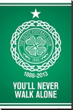Celtic FC - You'll Never Walk Alone Crest Stretched Canvas Print