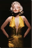 Marilyn Monroe (Gold Dress, Tinted) Movie Poster Print Stretched Canvas Print