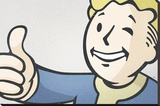 Fallout- Vault Boy Stretched Canvas Print