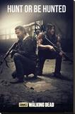 Walking Dead - Hunt - Şasili Gerilmiş Tuvale Reprodüksiyon
