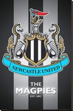 Newcastle United FC - The Magpies Club Crest Stretched Canvas Print