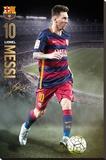 Barcelona- Messi Action 15/16 Lærredstryk på blindramme
