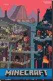 Mundo Minecraft Reproducción de lámina sobre lienzo
