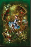 Alice Floating In Curved Space Stretched Canvas Print