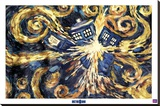 Doctor Who, le TARDIS explosant Reproduction sur toile tendue