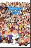 Family Guy Characters Stretched Canvas Print