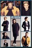 One Direction- Group Grid Reprodukce na plátně