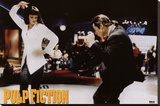 Pulp Fiction - Twist Contest (Travolta and Thurman) Movie Poster Sträckt Canvastryck