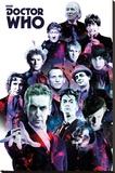 Doctor Who- 12 Doctors Collage Lærredstryk på blindramme