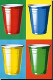 Party Cups Pop Art Stretched Canvas Print