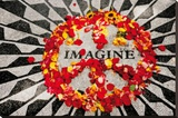 Imagine (John Lennon Memorial) Music Poster Print Stretched Canvas Print