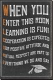 Welcome- New Classroom Motivational Poster Trykk på strukket lerret