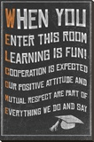 Welcome- New Classroom Motivational Poster Stretched Canvas Print