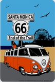 Route 66 Santa Monica Tin Sign
