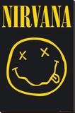 NIRVANA - Smiley Lærredstryk på blindramme