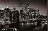 Brooklyn Bridge - B&W Lærredstryk på blindramme