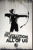 Hunger Games- Graffiti Reproduction sur toile tendue