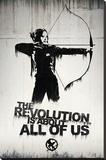 Hunger Games- Graffiti Lærredstryk på blindramme