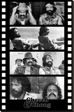Cheech and Chong Filmstrip Movie Poster Stretched Canvas Print