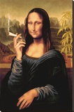 Mona Lisa - joint Reproducción en lienzo de la lámina