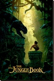 The Jungle Book- Bagheera & Mowgli Teaser Kunstdruk op gespannen doek