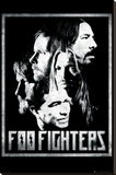 Foo Fighters-Group Stretched Canvas Print