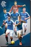 Rangers- Players 15/16 Lærredstryk på blindramme