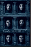Game Of Thrones- Hall Of Faces Stretched Canvas Print