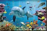 Tropik Okyanusta Denizaltı - Şasili Gerilmiş Tuvale Reprodüksiyon