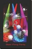 Joseph Charron- Beer Pong Party Opspændt lærredstryk af Joseph Charron