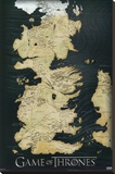 Game of Thrones - Map Stretched Canvas Print