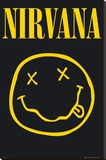 NIRVANA - Smiley Stretched Canvas Print