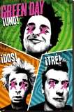 Green Day-Trio Stretched Canvas Print